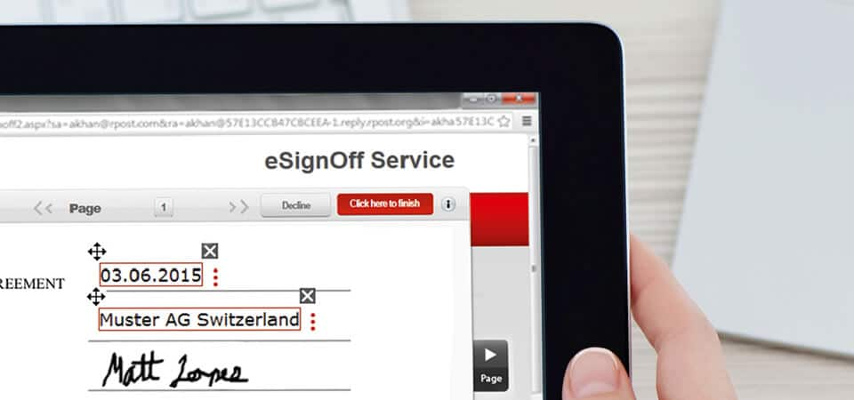 Online E-Sign Plattform