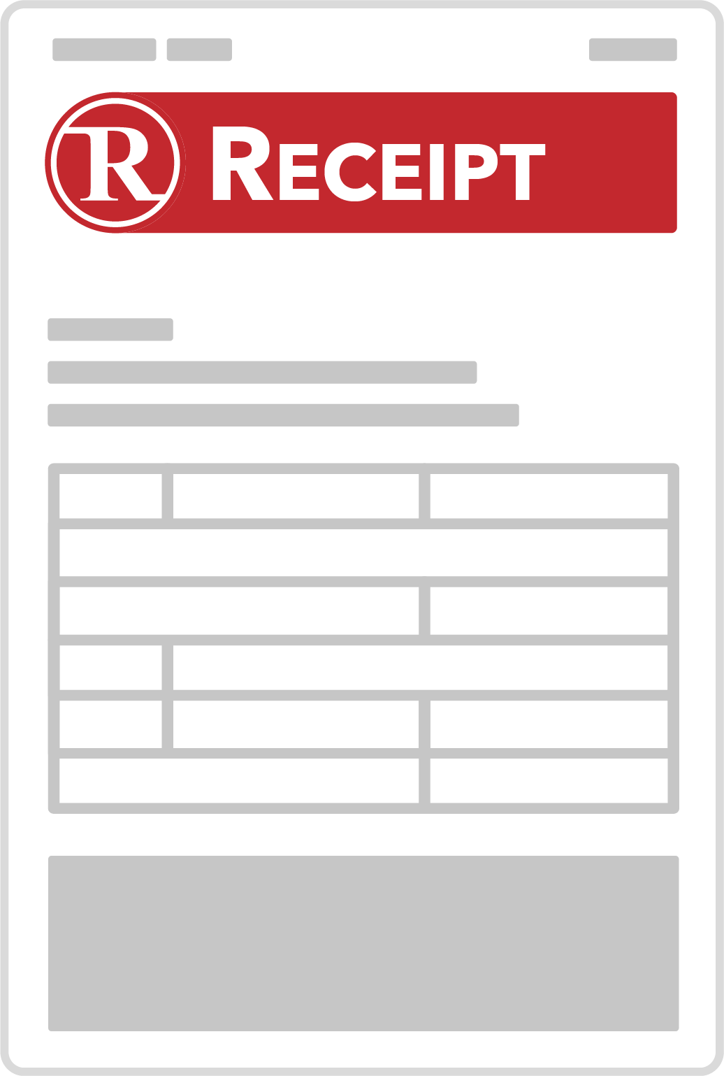 rmail receipt icon