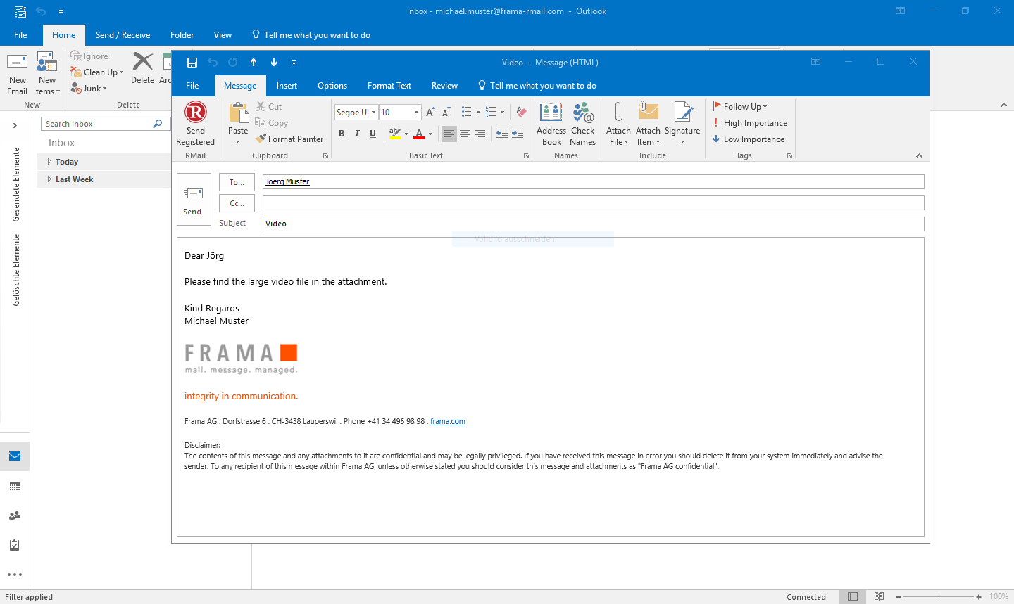 Send LargeMail with Outlook - Step 1