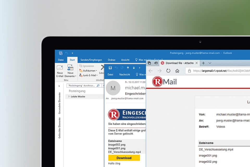 Screenshot Rmail File Transfer LargeMail